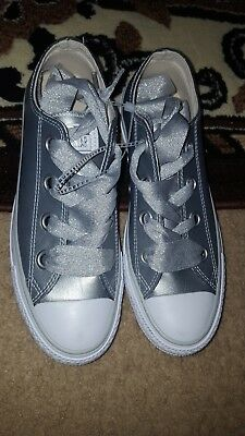 df12251a3d7 Converse Chuck Taylor All Star Big Eyelets Ox Women s Shoes Silver White  561695C