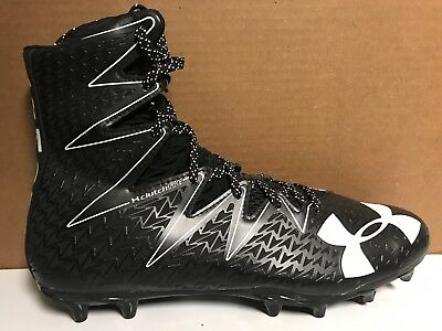 Under Armour Highlight Mc Football Cleats Black White 1290924-001 Mens Size 13