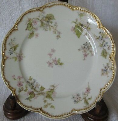 Antique Haviland Limoges France Schleiger Double Gold 232A Bread Plate 6 1/4""