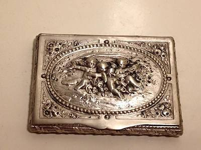 Adolf Mayer Frankfurt .800 silver art nouveau charob card case