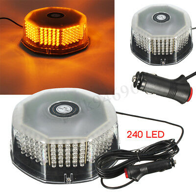 Amber 240 LED Beacon Flashing Magnetic Emergency Warning Strobe Light Lamp AU
