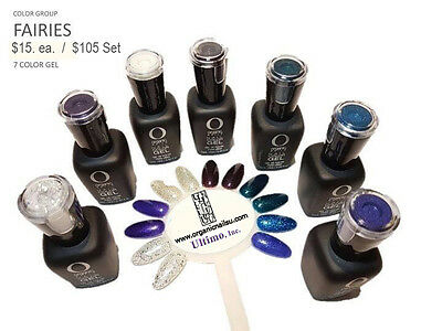 Organic Nails Color Gel FAIRY Color Group Set