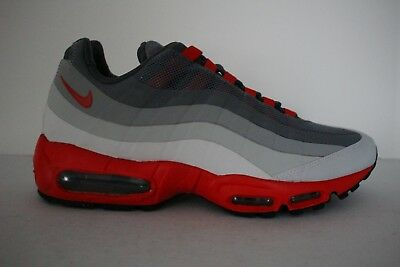 new concept 8f81c f9ba0 NIKE AIR MAX 95 No Sew Retro Men's Leather/Mesh Running Shoes Gray/Chilling  Red
