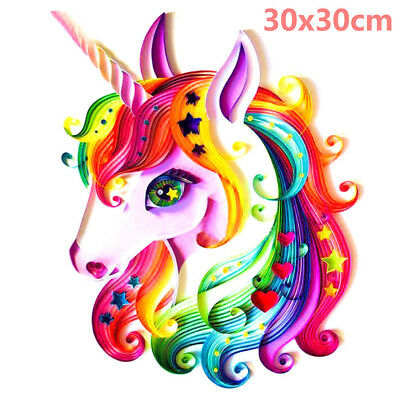 Full Drill Rainbow Star Unicorn 5D Diamond Painting Cross Stitch Kit Decor Arts