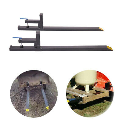 "43"" LW Clamp on Pallet Forks 1500 lbs Capacity Loader Bucket Skidsteer Tractor"