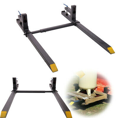 1500lb Capacity Clamp on Loader Bucket Skidsteer Tractor Chain Pallet Forks