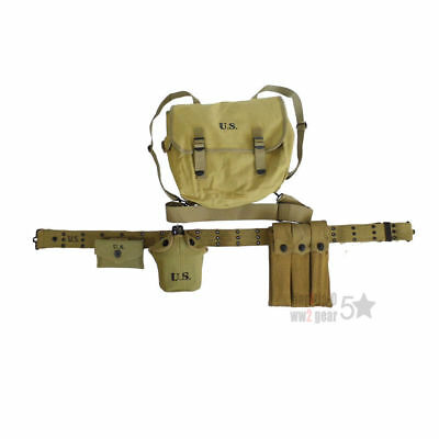 Reproduction WW2 WWII US Airborne Webbing Equipment Canvas Set M36 Musette Pouch