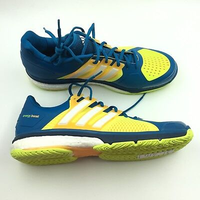 buy popular ac771 2295a Adidas Mens Blue Yellow Boost Endless Energy Sneakers Shoes 13 G2311738