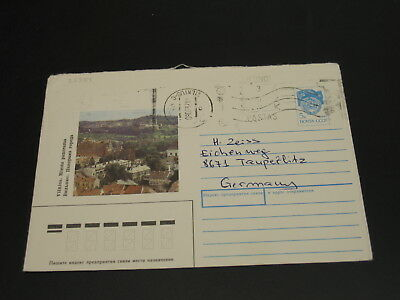 Lithuania 1992 stationery cover to Germany *25351