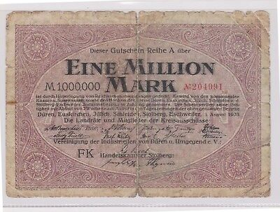 (N21-49) 1923 Germany 1million marks bank note (AW)