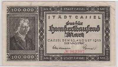 (N19-71) 1923 Germany 100,000 Marks bank note (CD)