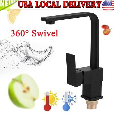 Rotate Swivel One Hole Chrome Matte Kitchen Mixer Tap Fo Sink Faucet Washroom BE