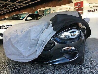 FIAT / Abarth 124 Spider Tailored Breathable CUSTOM Car Cover - Black & Grey