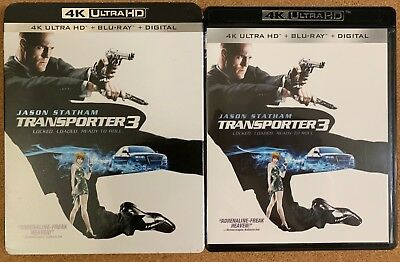 Transporter 3 4K Ultra Hd Blu Ray 2 Disc Set + Slipcover Sleeve Jason Statham