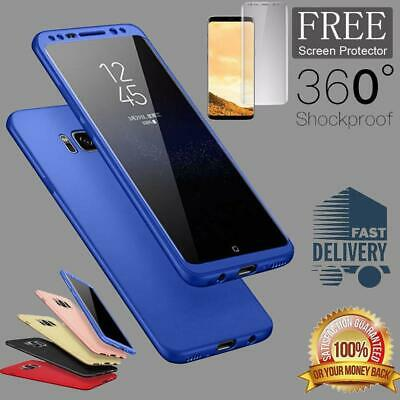 Ultra thin Slim Hard Case 360 Protective Cover For Samsung Galaxy S7 S8 Plus S9