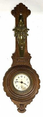 Lovely Waterbury Clock Co Barometer Shaped Clock American