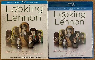 New Looking For Lennon Blu Ray Dvd 2 Disc Set + Slipcover Sleeve Free Shipping