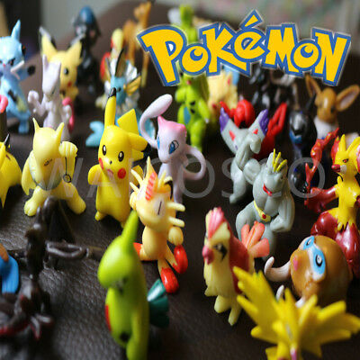 24 Pcs One Pack Pokemon Mini Figures Toys Collection Brand New UK Seller
