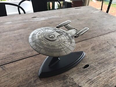 Franklin Mint Star Trek USS Enterprise D Pewter Model (2 of 2)