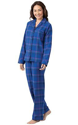 e90e0ced12 PajamaGram Flannel Pajamas Women Plaid - Button Front Womens Pajama Sets