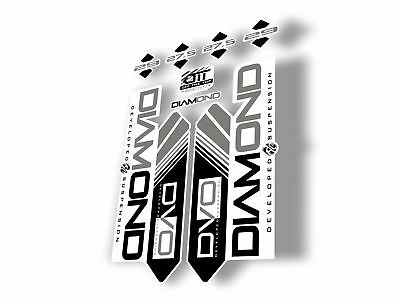 DVO 2016 Diamond 27.5-29 Fork Suspension Sticker Decal Kit Adhesive White