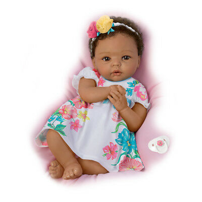 Ashton Drake Little And Lovely Gabrielle Silicone baby girl doll by Cheryl Hill
