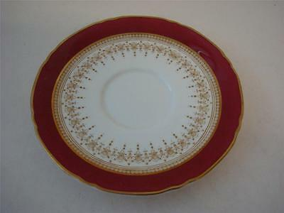 Royal Worcester Regency Ruby Red Soup Coupe Stand Saucer Only