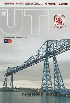 * 2018/19 - MIDDLESBROUGH v NEWPORT COUNTY (FA CUP - 26th January 2019) *