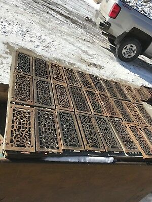 RL 1 29 avail Price Ea Antique Cast Iron Heat Grate Face 5.25 x 11.75