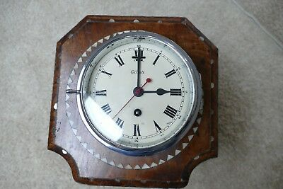 "Ships Clock  Chrome Cased  ""Celeste"""