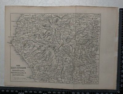 1844 - Map of the Lake District by Sidney Hall