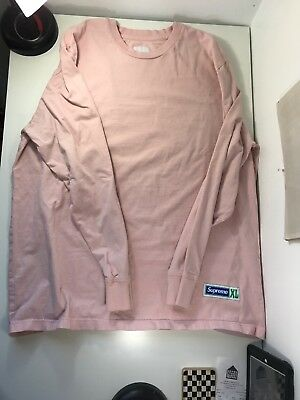600a5c088e Pre Owned Supreme Athletic Label L S Top Tee T-Shirt Pink 2017 FW17