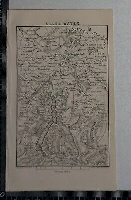 1844 - Map of Ulles Water, Penrith, Greystoke, Askham, Edenhall by Sidney Hall