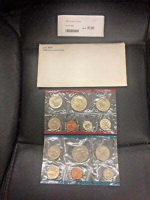 1980 United States Mint P,D,S Uncirculated 13pc Coin Set with original packaging