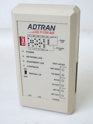 Adtran T1 CSU ACE 1200.022L2 With POWER SUPPLY and manual used working free ship