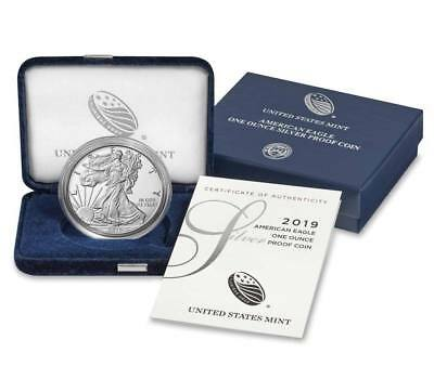 2019-W 1oz Proof American Silver Eagle with Box and COA