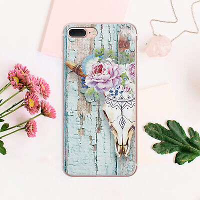 Skull iPhone XS Max Cover Flowers iPhone 7 8 Plus Case Wooden iPhone 6 6s Skin