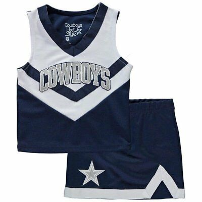 Dallas Cowboys NFL Infant ToddlerrGirls Victory Cheer Dress Set Always  Authentic 8cbcfb637