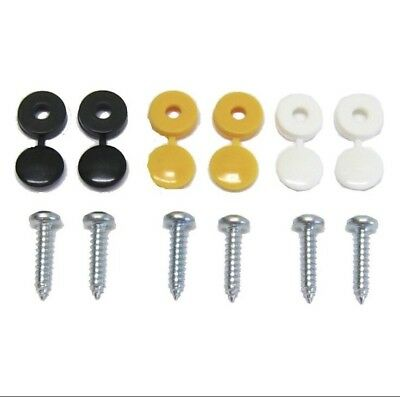 Car Number Plate Fixing Fitting Kit Screws And Caps X 6 MIX AND MATCH