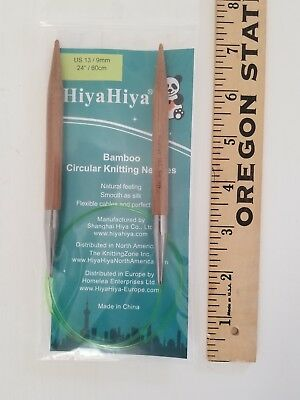 "HiyaHiya 60/"" Bamboo Circular Knitting Needles"