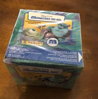 Monsters Inc. Sealed Panini Sticker Box With 50 Packs Unopened