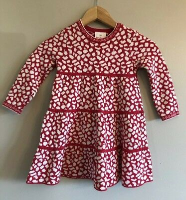 93f3767020 GIRLS HANNA ANDERSSON Sweater Dress Red White Size 100 4 -  12.99 ...