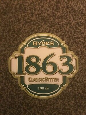 Hydes 1863 Classic Bitter 2 Beer Pump Clip Breweriana Brand New Free Fast P+P