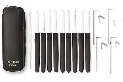 Southord 14 Piece lock pick tools set with rubber grips PXS-14