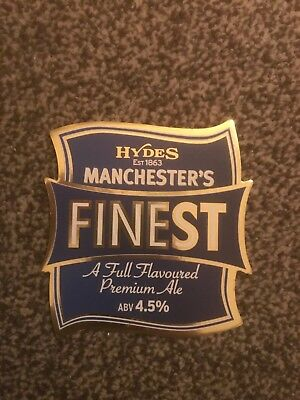 Hydes Manchester's Finest Beer Pump Clip Breweriana Brand New Free Fast P+P