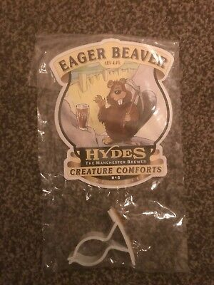 Hydes Eager Beaver Beer Pump Clip Breweriana Brand New Free Fast P+P
