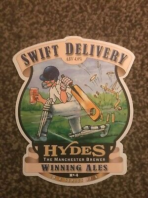 Hydes Swift Delivery Beer Pump Clip Breweriana Brand New Free Fast P+P