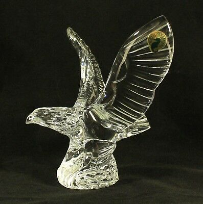 Waterford Crystal 1994 Eagle Figurine Wings Raised Sculpture Paperweight