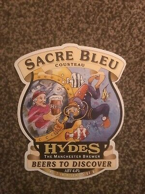 Hydes Sacre Bleu Beer Pump Clip Breweriana Brand New Free Fast P+P