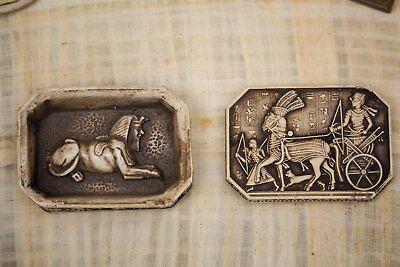 Authentic Vintage Box of Ramses II on Chariot. Ancient Egyptian Box. Storage Box